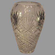 Vintage Gorham Crystal Vase - Fan and Cris Cross Pattern