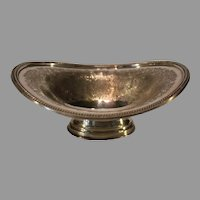 Antique J Barker Ellis Silverplate Oval Pedestal Dish - 1912