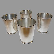 4 Samuel Kirk and Son Sterling Mint Julip Tumblers - 1933 or after