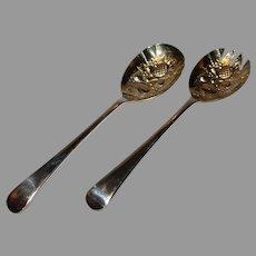 Vintage Salad Serving Spoons - S. G. England EPNS