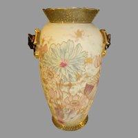 Antique Hand Painted Old Paris Porcelain Vase with Floral Motif