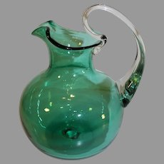 Vintage Murano Hand Blown Glass Pitcher - c. 1950s