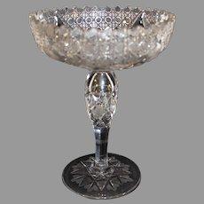 Antique Ammerican Brilliant Cut Crystal Comport