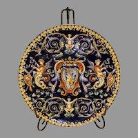Gien Faiance Renaissance Plate - c. 1871