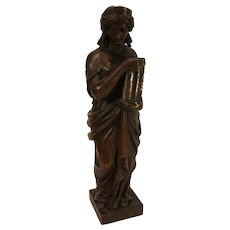 Vintage Hand Carved French Statue - Alegorical Virtue - early 20th Century