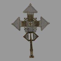 Vintage Ethiopian Processional Crucifer - Nickle