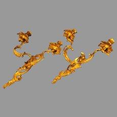 Pair of Vintage Brass Italian Sconces