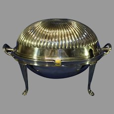 Antique English Silver-Plate Covered Warmer - Thomas Bradbury and Sons