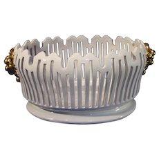Vintage Italian Zuccagnini Porcelain Center Piece Oval Bowl