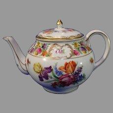 Vintage Schumann Porcelain Tea Pot -Dresdener Art