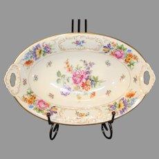 Vintage Tirschenreuth Bavaria Schumann Porcelain Oval Bowl