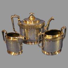 Antique Qudrupleplate Simpson, Hall, Miller and Co. Tea Service