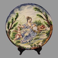 Vintage Hand Painted Italian Charger by Giuseppe Mazzotti