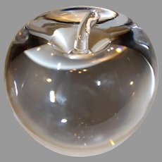 Vinatage Steuben Crystal Apple Paper Weight