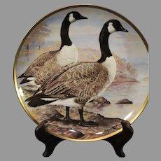 Franklin Mint Basil Ede Canada Goose Porcelain Plate 1981