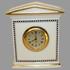 Vintage Lenox Porcelain Forum Black Clock