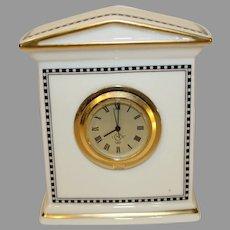 Vintage Lenox Porcelain Forum Black Clock