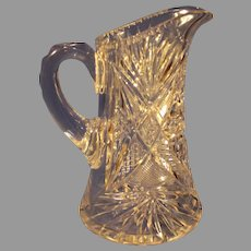 American Brilliant Cut Crystal Water Pitcher