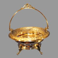 Antique Derby Silver Company Bride's Basket - c. 1875