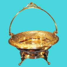 Antique Derby Silver Company Bride's Basket - c. 1875