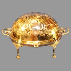 Antique Stephenson and Sons Silverplate Covered Breakfast Warmer - c. 1875