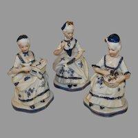 Vintage KPM marked Porcelain Court Figurines
