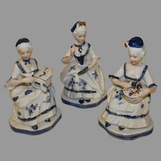 Vintage KPM marked Porcelain Court Figurines