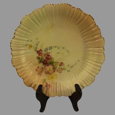 Antique Royal Worcester Scalloped Plate - 1895