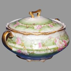 Antique Limoges Plantation Sugar Bowl - Coronet