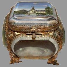Vintage French Beveled Glass Jewelry Case - Place de la Republique