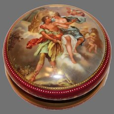 Antique Hand Painted Wagner Dresser Box