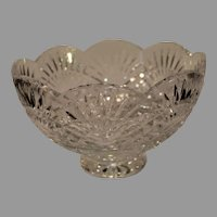 Vintage Waterford Crystal Center Piece Footed Bowl