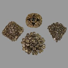 4 Vintage Brooches - 1 Weiss - c. 1940s
