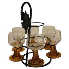 Vintage Brandy Hock Set - German