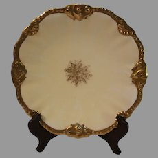 Antique Bernaudean Scalloped Cabinet Plate - 1890