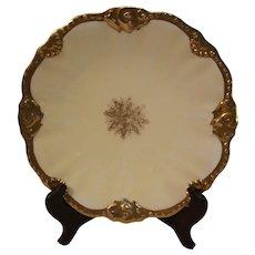 Antique Bernaudean Scalloped Cabinet Plate - 1890