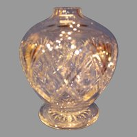 Thomas Webb Footed Cut Crystal Globe- St. Andrews - c. 1960s