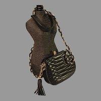 Vintage Giorgio Beverly Hills Leather Shoulder Bag