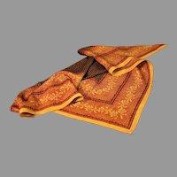 Vintage Triangular Silk Scarf