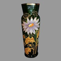 Antique Hand Painted Gilded French Vase