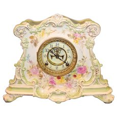 Ansonia Porcelain Mantel Clock - La Drome - Royal Bonn