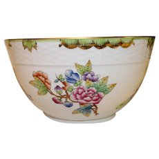 Vintage Herend Porcelain Bowl - Butterflies and Flowers