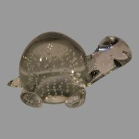 Murano Crystal Paperweight Turtle - 1950