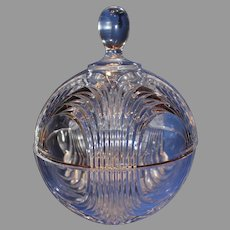 Vintage Clear Crystal Covered Global Bowl