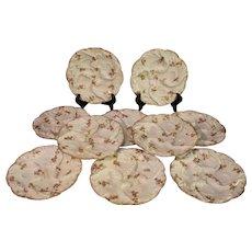 Antique Haviland Porcelain Ladies Oyster Plates - 1880-1890