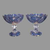 Pair of Heisey Glass Colonial Comports