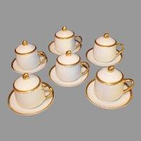 Fitz and Floyd Pots de Creme Porcelain