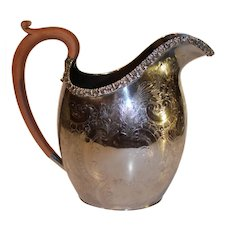 Ellis Barker Silverplate Water Pitcher