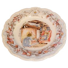 Royal Doulton Brambley Hedge Winter Plate