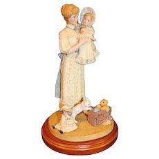 """Porcelain """"Jan and Sharise"""" Figural Jan Hagara 1987"""